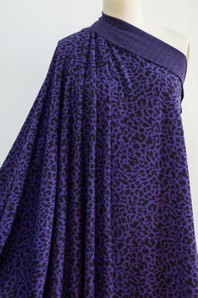 Purple Cheetah Ponte Knit - 2 units (1 yard)