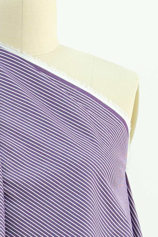 Purple Mountain Japanese Stripe Cotton Woven