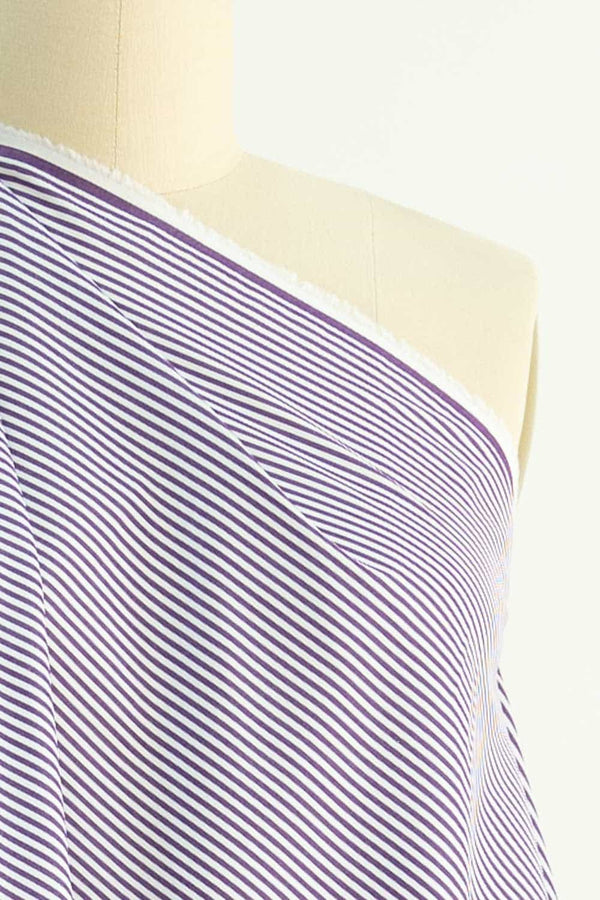 Purple River Japanese Stripe Cotton Woven