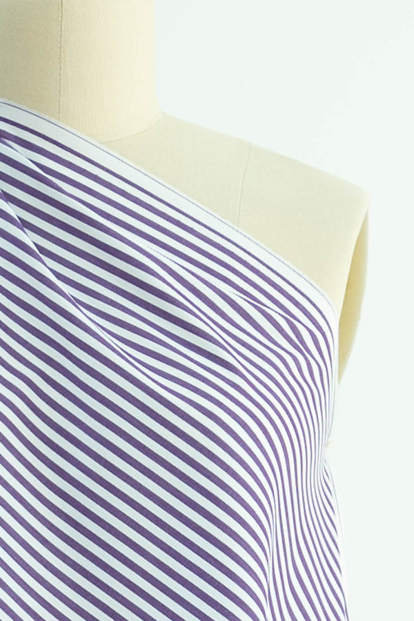 Purple Sky Stripe Japanese Cotton Woven