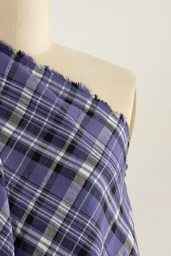 Purple Prince Plaid Italian Cotton Woven