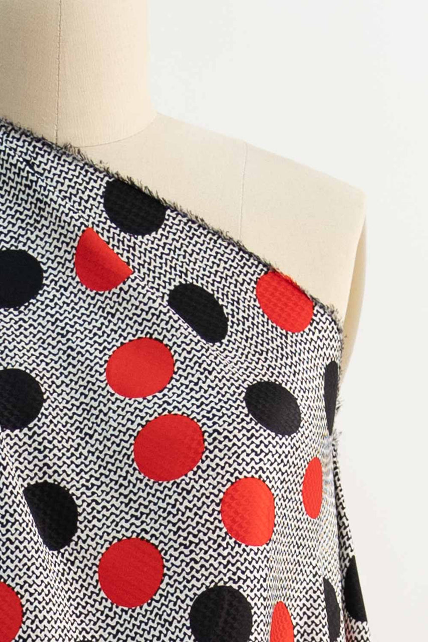 Queen Of Dots Silk Jacquard Woven