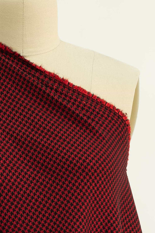 Red Rover Houndstooth Stretch Woven