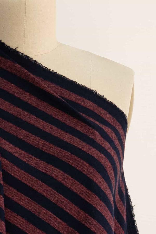 Red Rock Stripe Japanese Cotton Flannel Woven