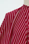 Red Skelton Stripe Bamboo Rayon/Spandex Knit