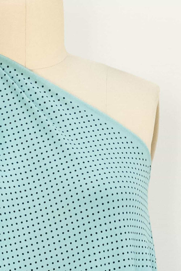 Robins Egg Blue Dots Knit