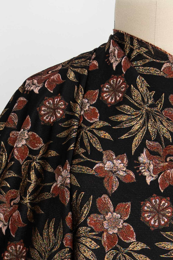 Rust Imperial Fritillaria French Brocade Woven
