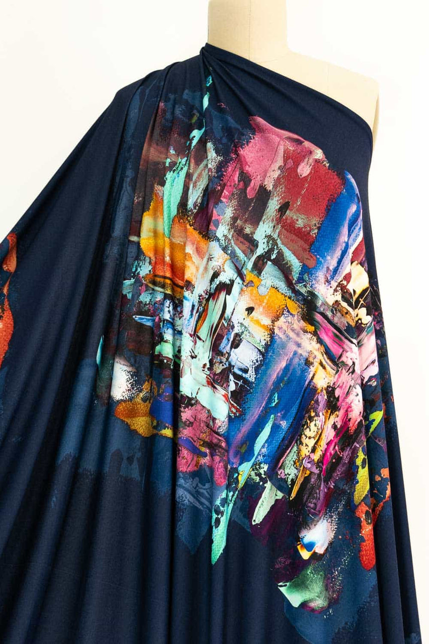 "Sam Francis French Digital Knit sold by the 34"" x 59"" double panel"