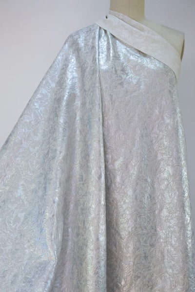 Silver Girl Metallic Cotton Brocade Woven