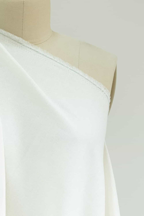 Soft White Stretch Linen Woven