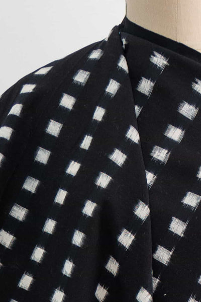 Square Dot Ikat Indian Cotton Woven