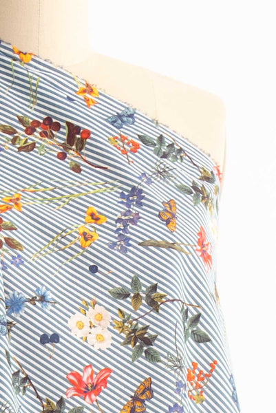 Summer Garden Stripe Cotton Woven