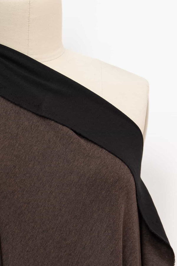 Umber Heather And Black Ponte Knit