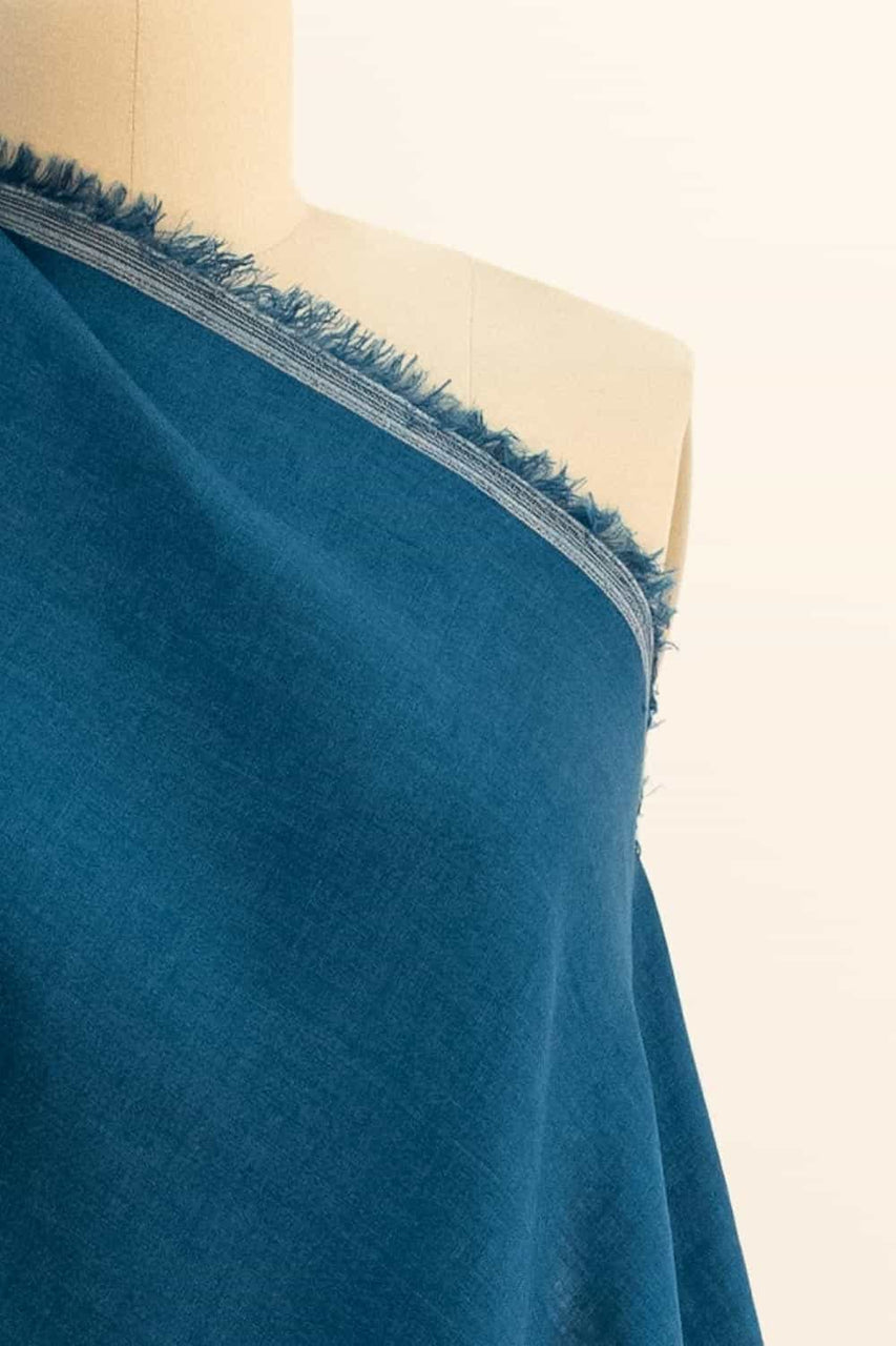 Vardo Blue Washed Linen Woven