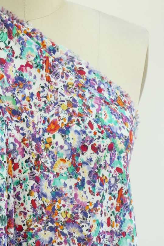 Wildflower Mix Rayon Woven