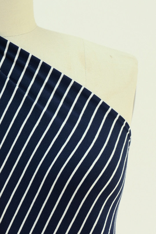 Yves Montand Stripe Bamboo Rayon/Spandex Knit