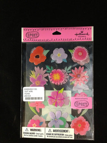 #0300VSS1135 - HLMRK COLORFUL FLOWER STICKERS  -  260/CASE