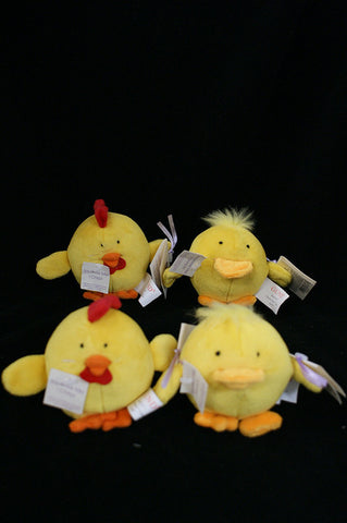 "#036437 - 3""PLUSH DUCK & CHICK W/SOUND HOP TO IT CHUCKUMS  -  240/CASE"