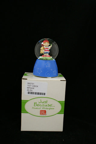 #060751 - JUST BECAUSE-BOY MUSICAL WATER GLOBE (TWINKLE TWINKLE)  -  48/CASE