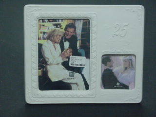 #100203 - 25TH ANNIV./WEDDING DAY FRAME  -  8/CASE