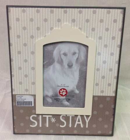 "#100483CBK - 4X6"" SIT & STAY DOG FRAME  -  24/CASE"
