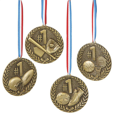 #100566 - SPORT MEDAL ORNAMENT (4 ASSTD)  -  72/CASE