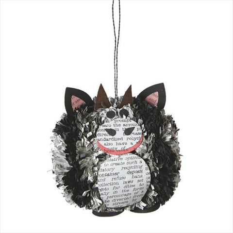 #104595 - COW POM-POM ORNAMENT  -  72/CASE