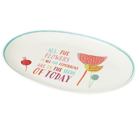 "#109669 - 14""W PLATTER-ALL THE FLOWERS  -  12/CASE"