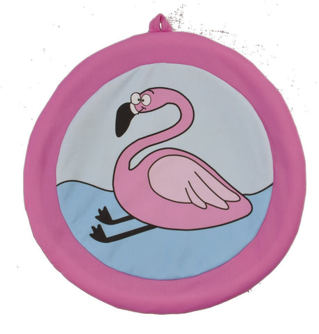 "#114609 - 13"" FLAMINGO WATER FRISBEE  -  24/CASE"