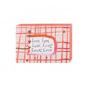 "#115787 - 6""W WALL BLOCK-LOVE,LOVE,LOVE  -  48/CASE"