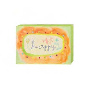 "#115789 - 6""W CANVAS WALL BLOCK-HAPPY  -  48/CASE"