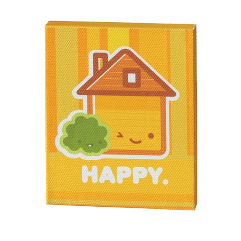 #118919 - HAPPY MAGNET MDF CANVAS  -  48/CASE