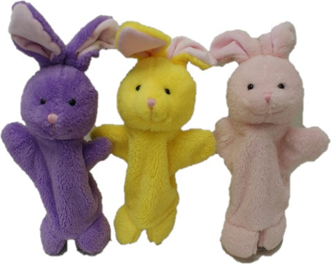 "#12037 - 11"" SPRINGTIME BUNNY PUPPETS  -  120/CASE"
