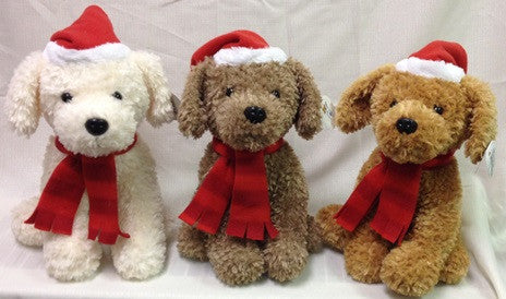 "#12101 - 11.5""SITTING HOLIDAY PUPS  -  12/CASE"
