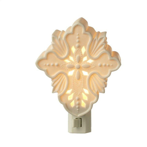 #125037 - PORCELAIN CROSS NIGHT LIGHT  -  12/CASE
