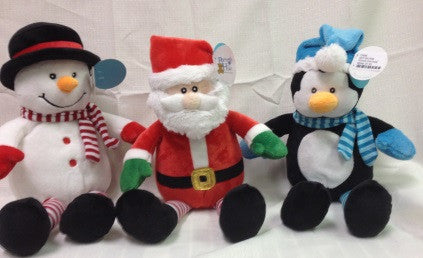 "#13080 - 12""SITTING JOLLY XMAS PLUSH  -  24/CASE"