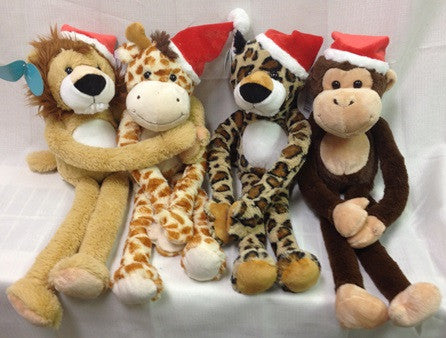 "#13169 - 15""HOLIDAY VELCRO ANIMALS  -  24/CASE"