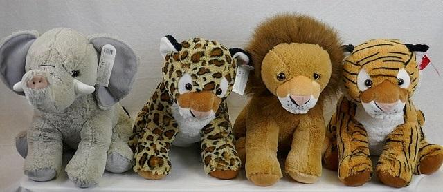 "#131779 - 11.5""JUNGLE ANIMALS  -  12/CASE"