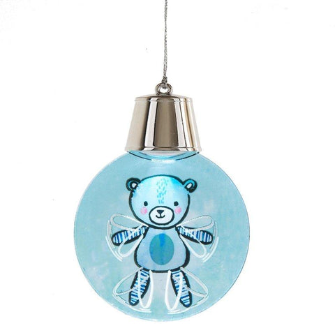 #132335 - LIGHTED LED FLASHING BEAR ORNA  -  72/CASE