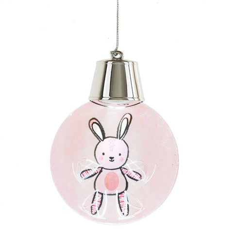 #132336 - LIGHTED LED FLASHING BUNNY ORN  -  72/CASE
