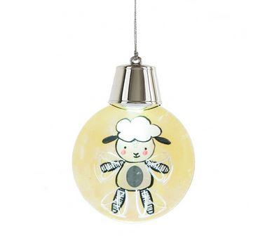 #132337 - LIGHTED LED FLASHING LAMB ORNA  -  72/CASE
