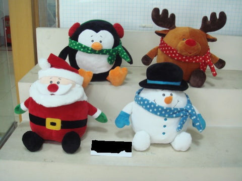 "#140801 - 10"" ROLY POLY XMAS PALS  -  8/CASE"