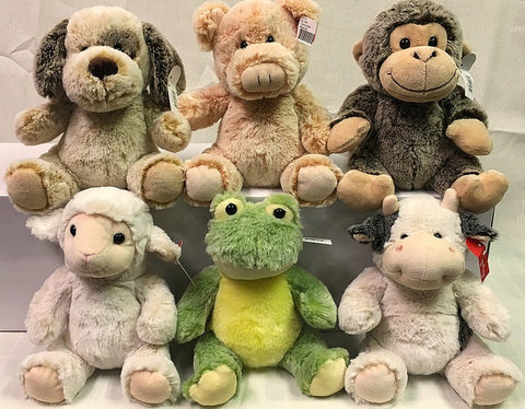 "#141815 - 8""PLUSH SITTING ANIMALS 6AT  -  24/CASE"