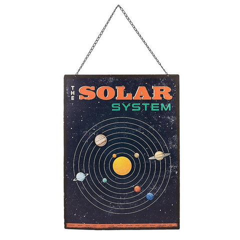 "#149488 - 24X16"" SOLAR SYSTEM WALL DECOR  -  8/CASE"
