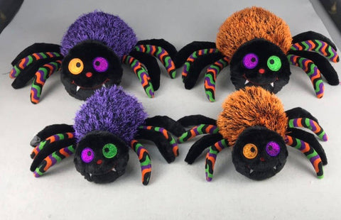 "#150442 - 8""PLUSH SPIDERS-VIOLET 2AT  -  24/CASE"