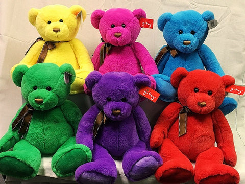 "#150466 - 12""SITTING RAINBOW BEARS  -  12/CASE"