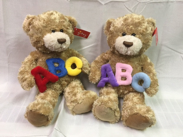 "#150787 - 12"" SITTING ABC BEARS  -  12/CASE"