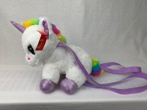 "#158172 - 12"" PLUSH UNICORN BACKPACK YUNICE  -  30/CASE"
