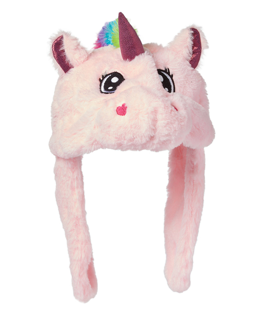 #158189 - PLUSH PINK UNICORN HAT-YUNICE ONE-SIZE  -  36/CASE