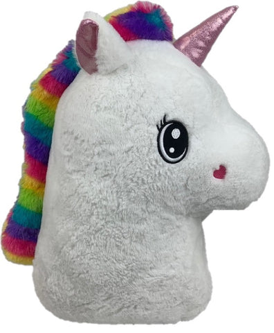 "#158202 - 20""PLUSH UNICORN PILLOW-YUNICE  -  6/CASE"